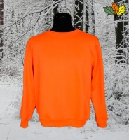 sweat-fluo-haute-visibilite-col-rond-chasse-chasseur-face