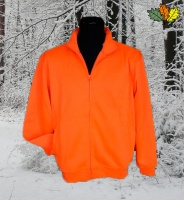 sweat-fluo-haute-visibilite-full-zip-chasse-chasseur-face