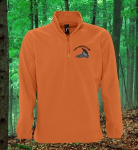 sweat-polaire-chasse-orange