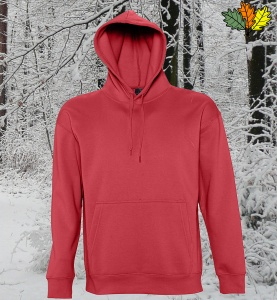 sweat-capuche-rouge-chasse