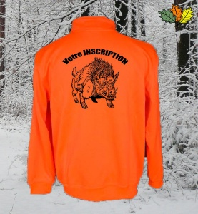 sweat-fluo-haute-visibilite-col-zip-chasse-chasseur-sanglier